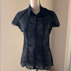 NWT transparent black shirt